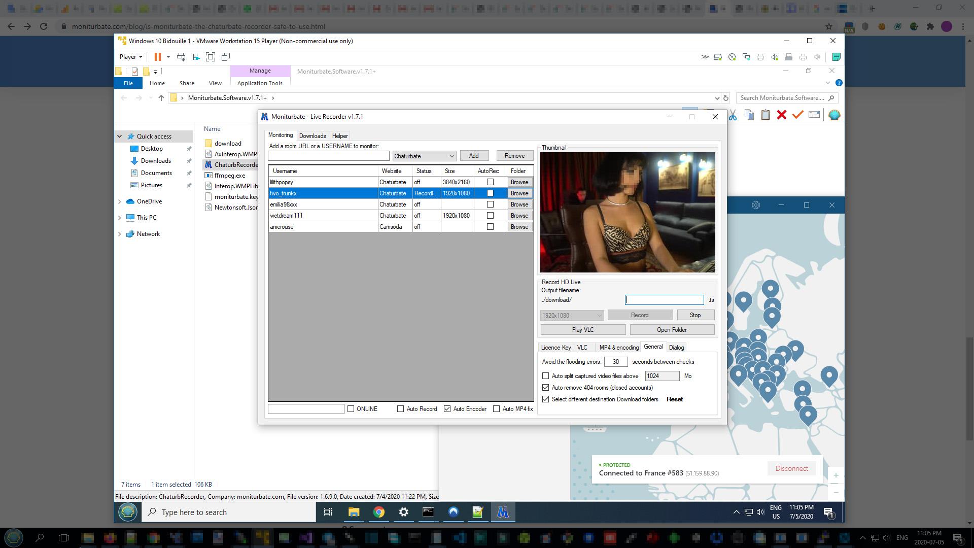 moniturbate in a virtual environment